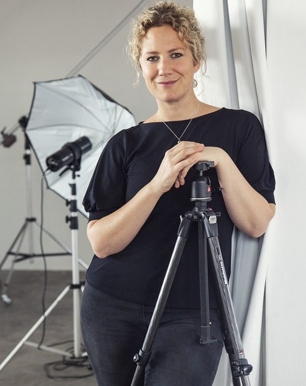 Author and photographer Leah Hawker in her studio