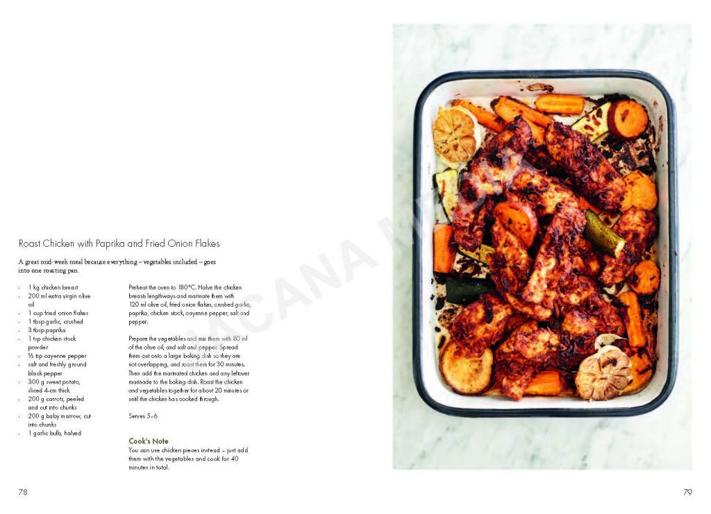 Example of cookbook layout