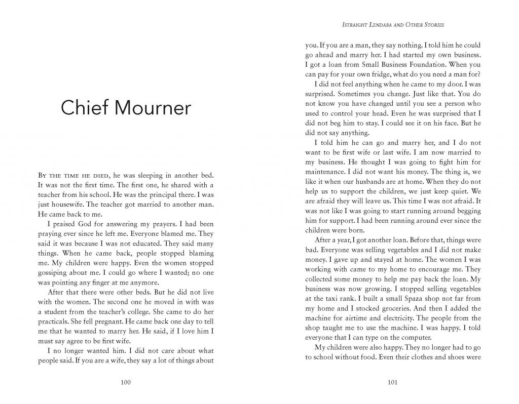 Example of a fiction book layout that is text-only